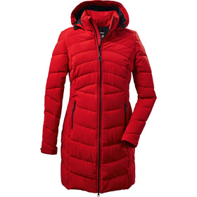 killtec KOW 164 Quilted Parka Women, rood